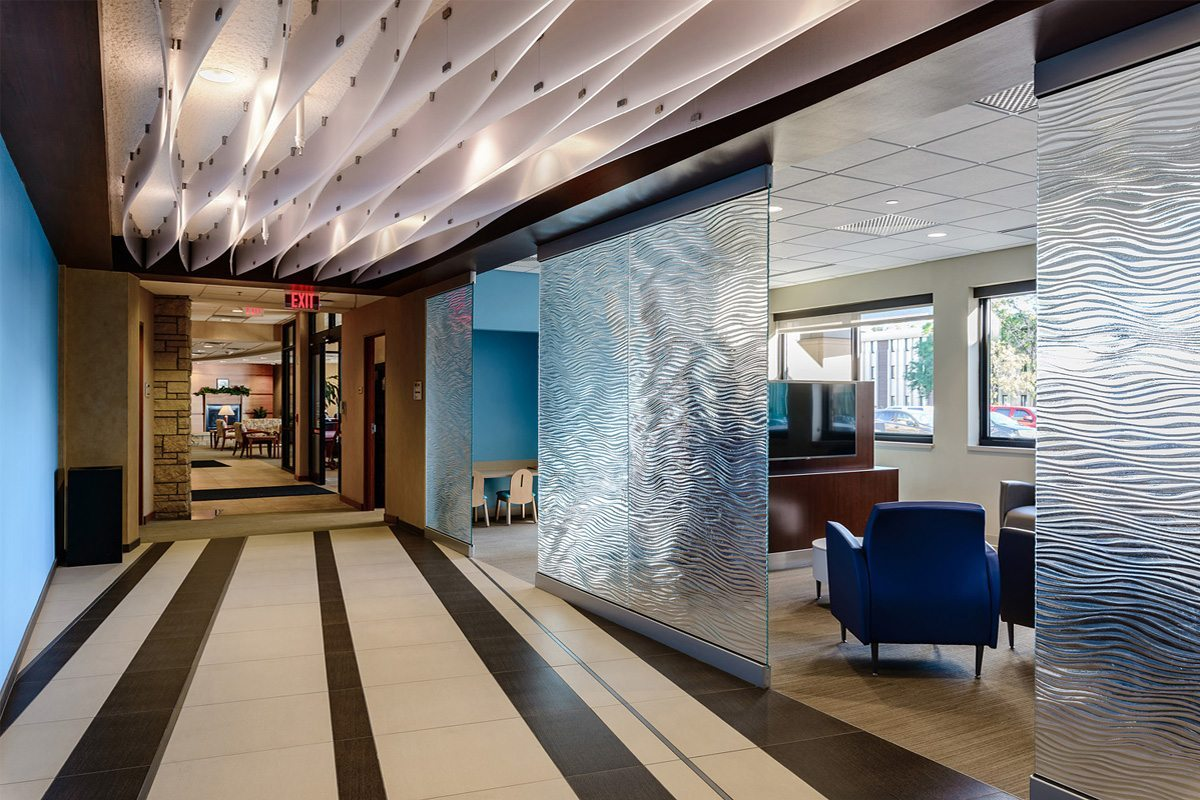Mirage Textured Glass Walls