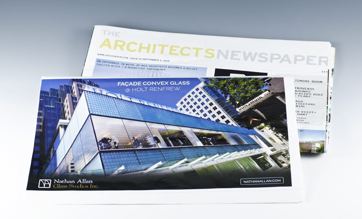 convex glass facades Newspaper