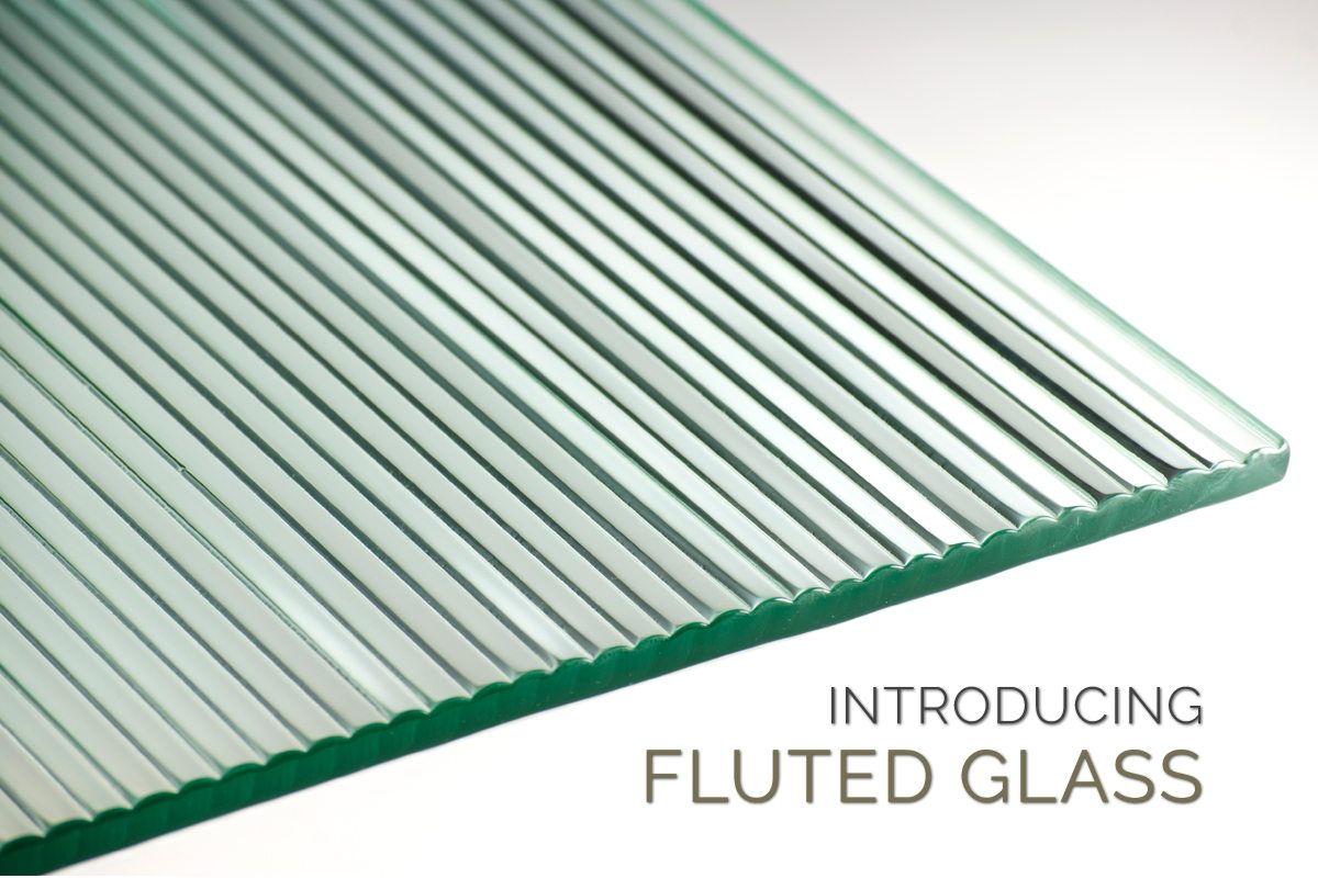 Decorative Fluted Glass