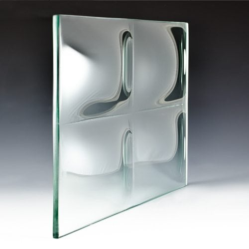 Convex Square 6 Textured Glass