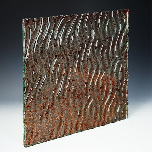 Crystal Copper Textured GlassCopper Textured Glass