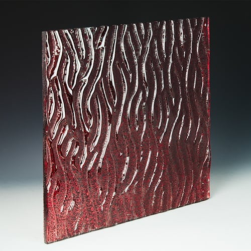 Crystal Red Textured Glass
