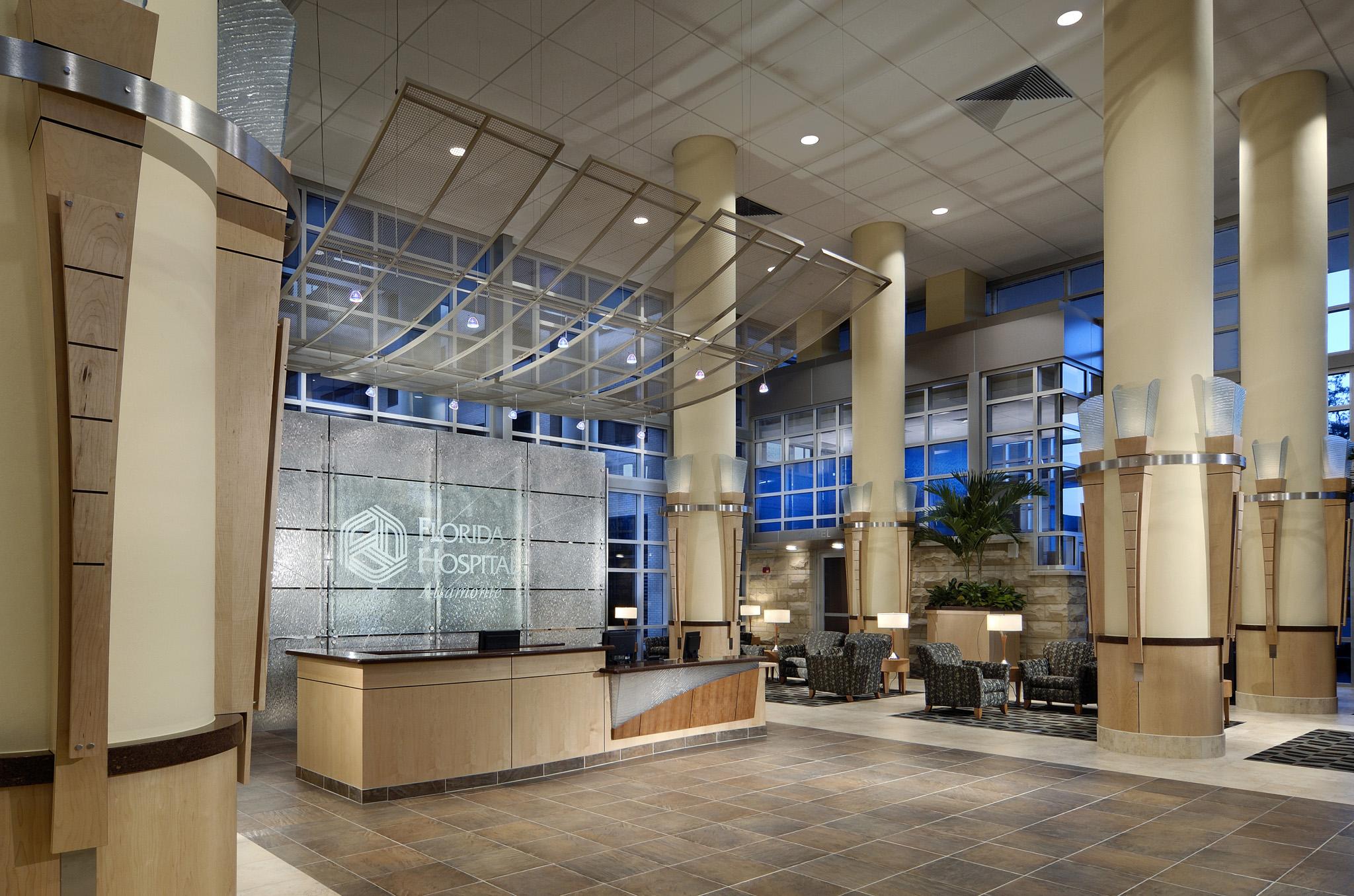 Florida Hospital Altamonte Glass Reception Area