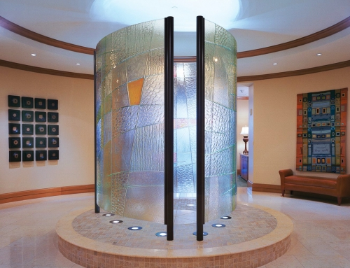 Hyatt Classic Bent Textured Glass