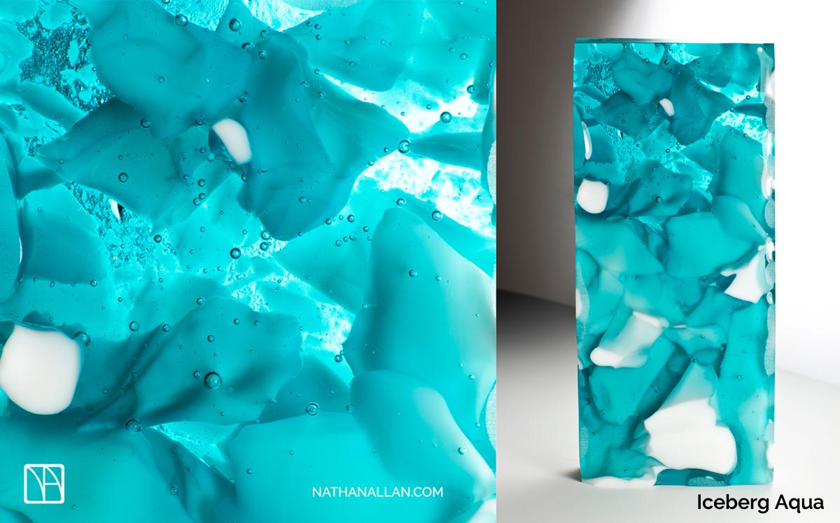 Iceberg Aqua Glass Examples