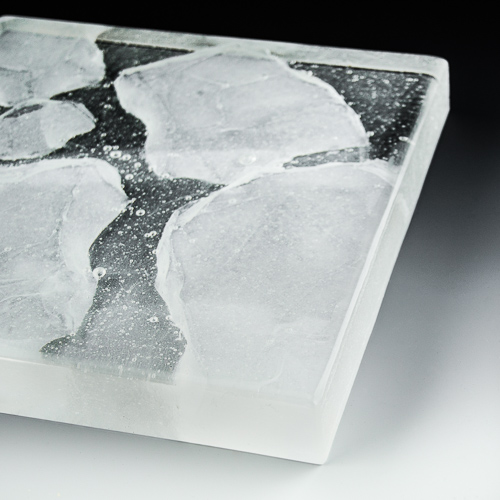 Iceberg Textured Glass flat