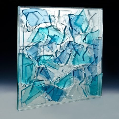 Crackle Blended Textured Glass