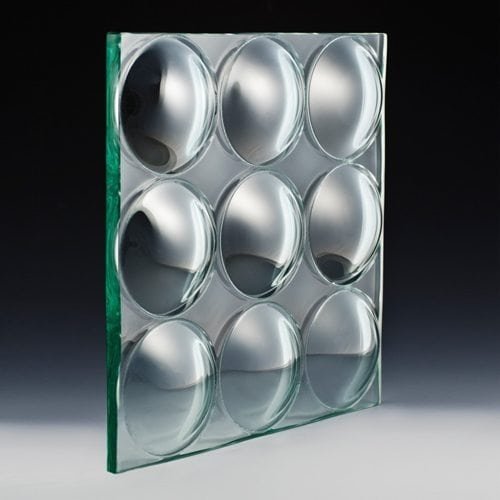 Convex Circles Textured Glass