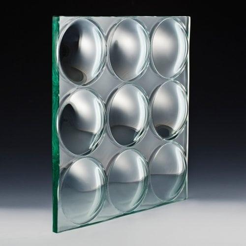 Convex Circles Textured Glass