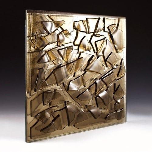 Crackle Bronze Decorative Glass