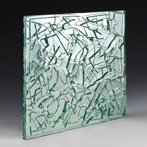 Crackle Clear Textured Glass