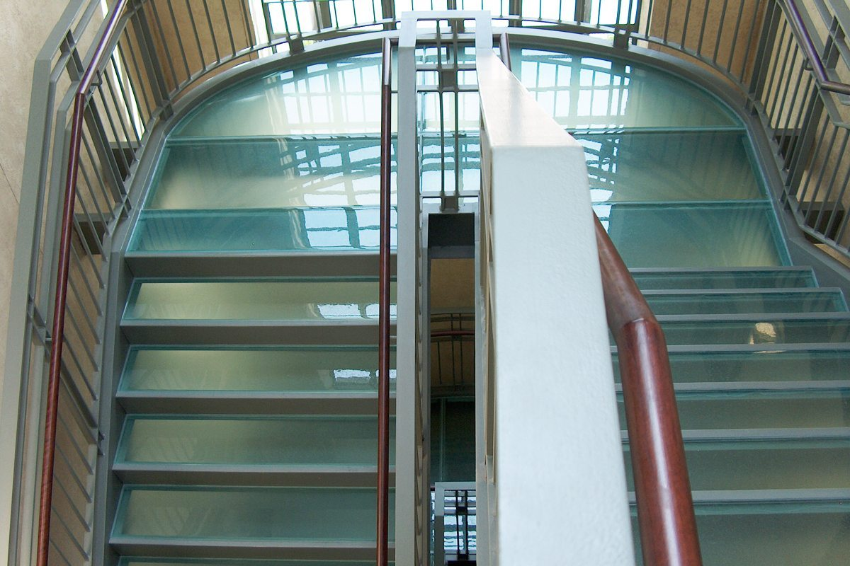 St John Episcopal Church Clear Glass Stair Treads