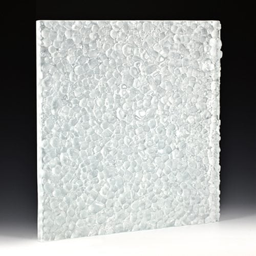 Stones Low Iron Frosted Textured Glass