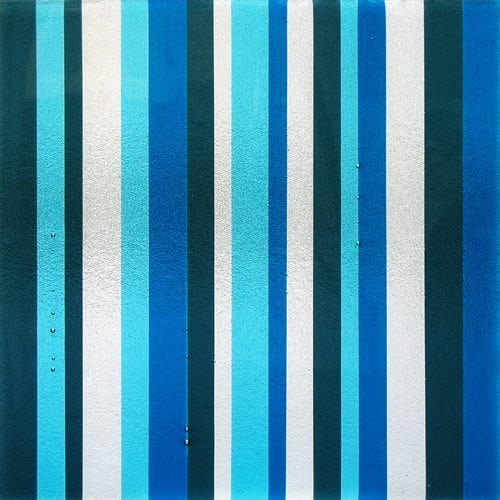 Tapestry Blue Textured Glass