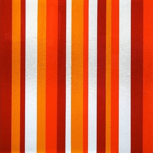 Tapestry Orange Textured Glass