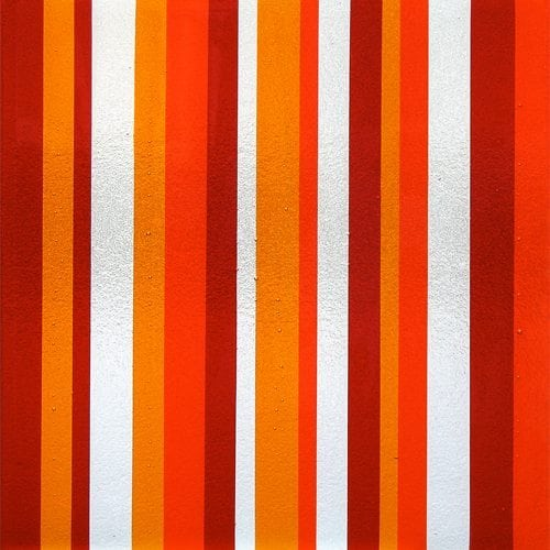 Tapestry Orange Textured Glass