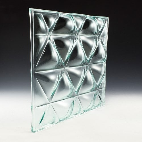 Convex Triangle Textured Glass