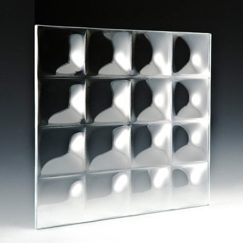 Convex Square 3 Textured Glass