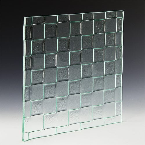 Checkerboard Textured Glass