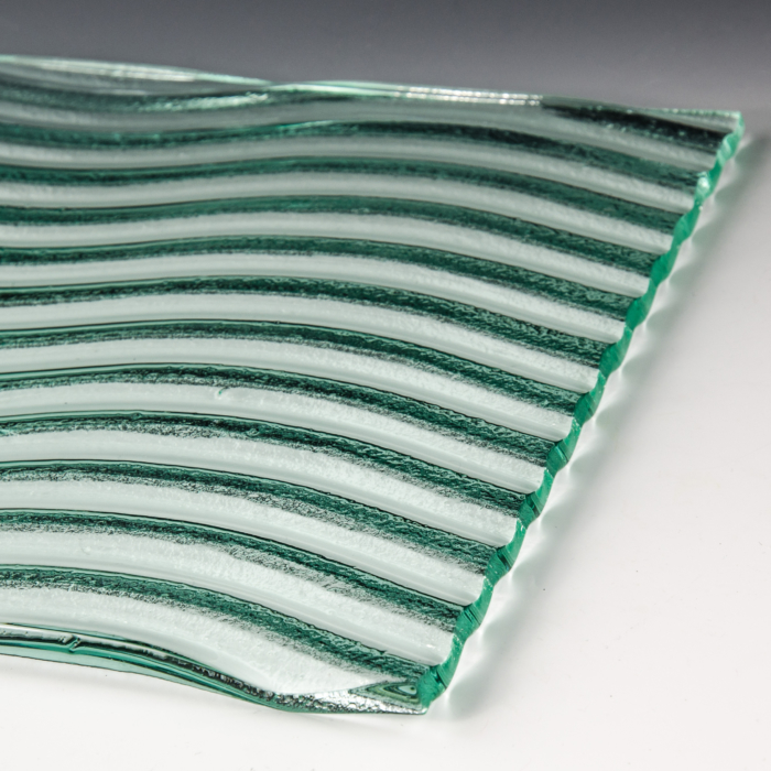 Wave Textured Glass flat