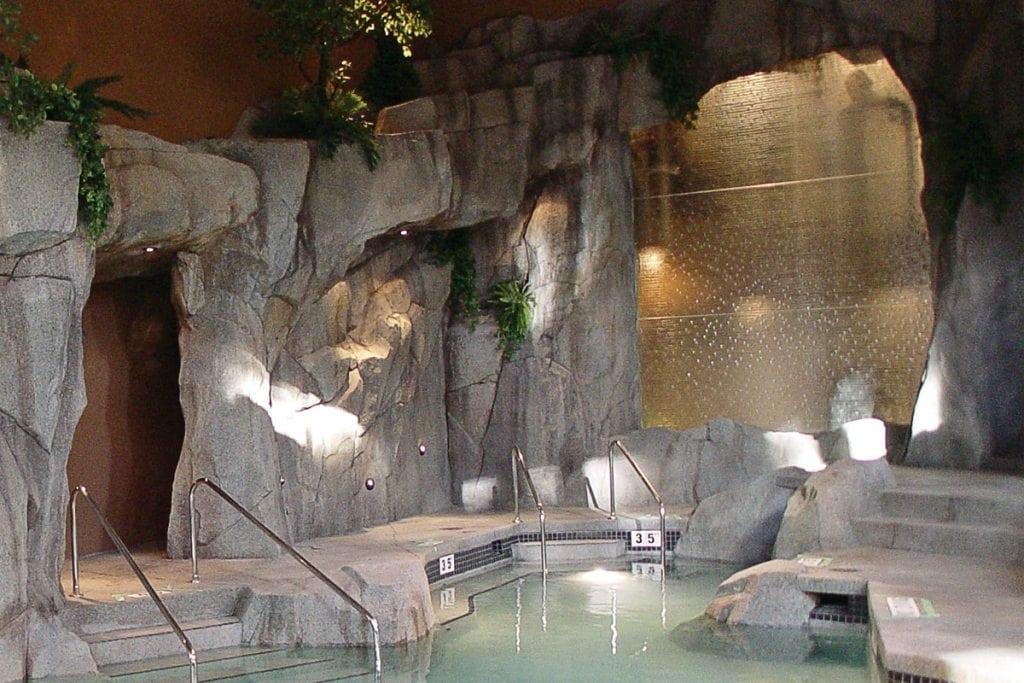Deep Rain Glass Waterfall