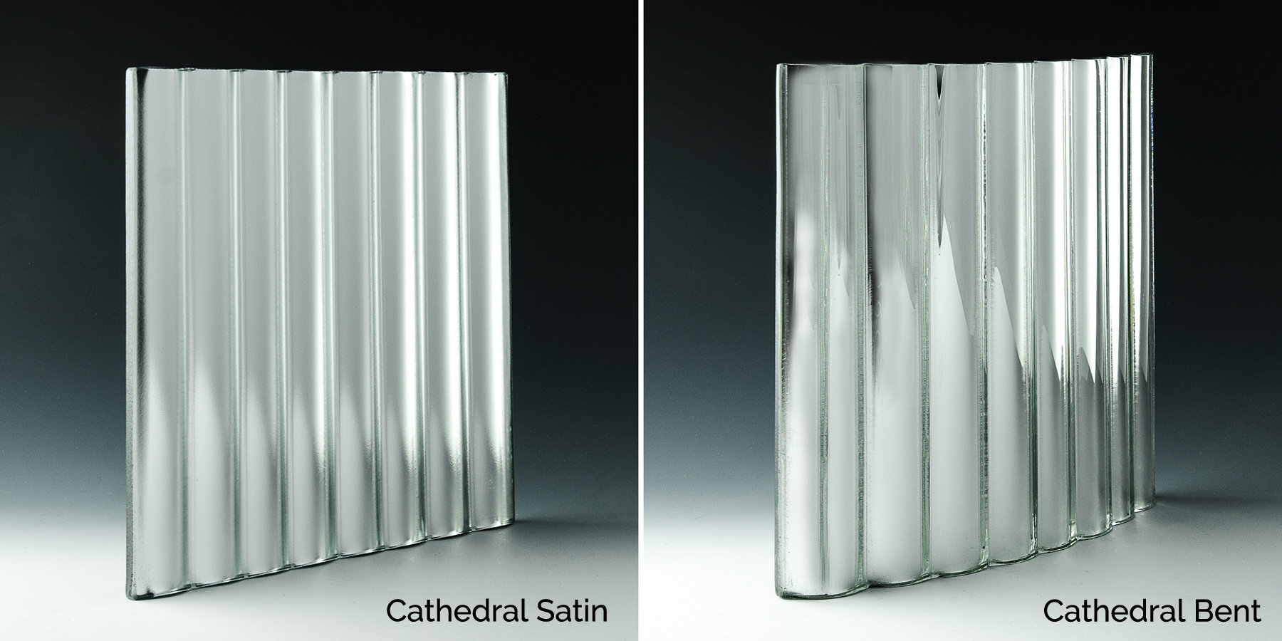 Cathedral Satin and Cathedral Bent Glass