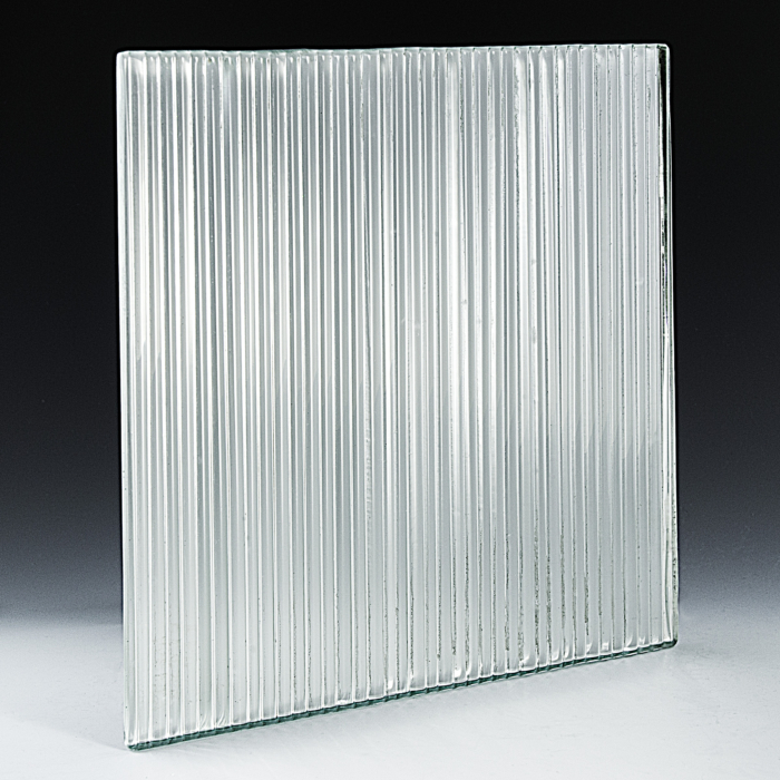 Fluted Low Iron Silvered Glass