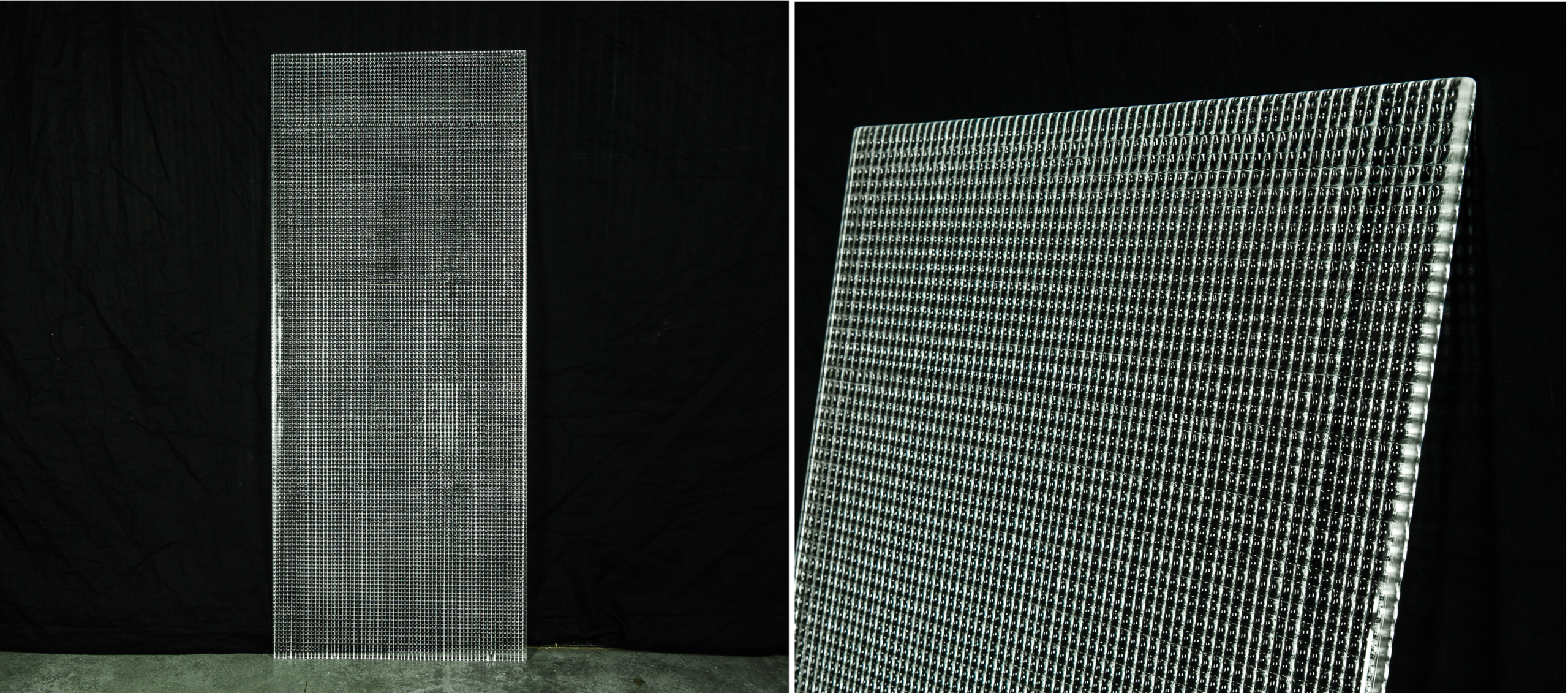 Screen Textured Glass Collage