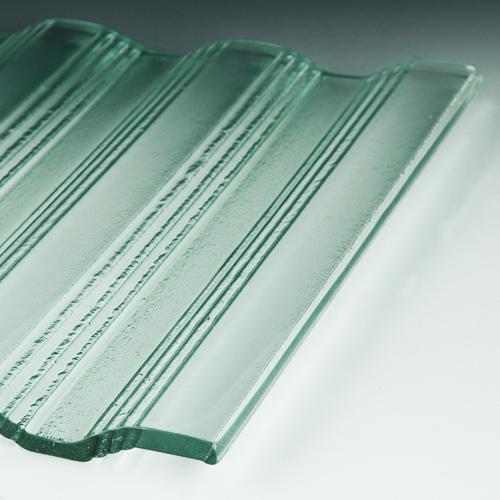 Groove Textured Glass flat