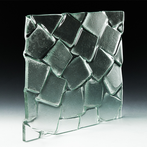 Cubes Textured Glass angle
