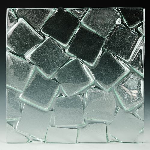 Cubes Textured Glass front