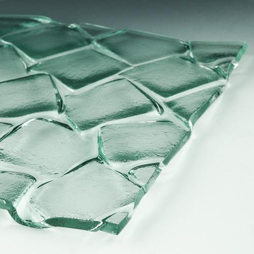 Cubes Textured Glass flat