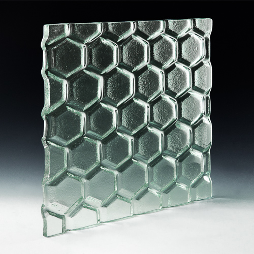 Hex Textured Glass angle