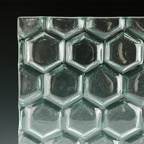 Hex Textured Glass 1 corner
