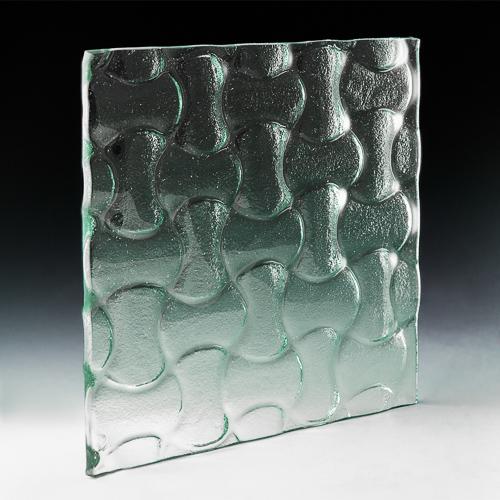 Interlock Textured Glass angle