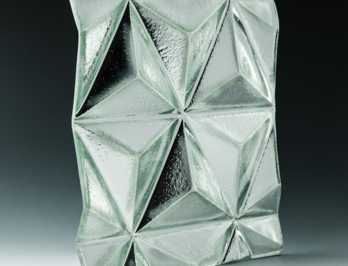 3-D Pyramid Silvered Cast Glass