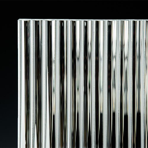Channel Low Iron Silvered Glass corner