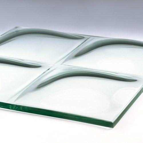 Convex Square Glass bottom
