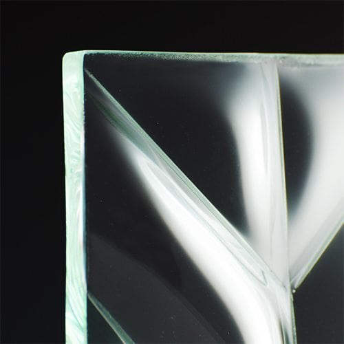 Convex V Glass corner