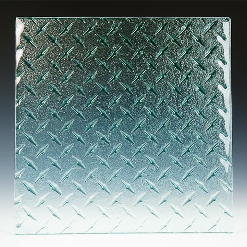 Diamondplate Textured Glass Pic 2