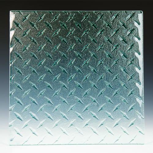 Diamondplate Textured Glass Pic 2