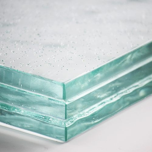 Low Iron Textured Glass flat