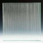 Fluted Clear Glass front