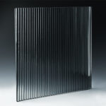 Fluted Silvered Black Glass angle
