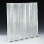 Fluted Low Iron Silvered Glass Front