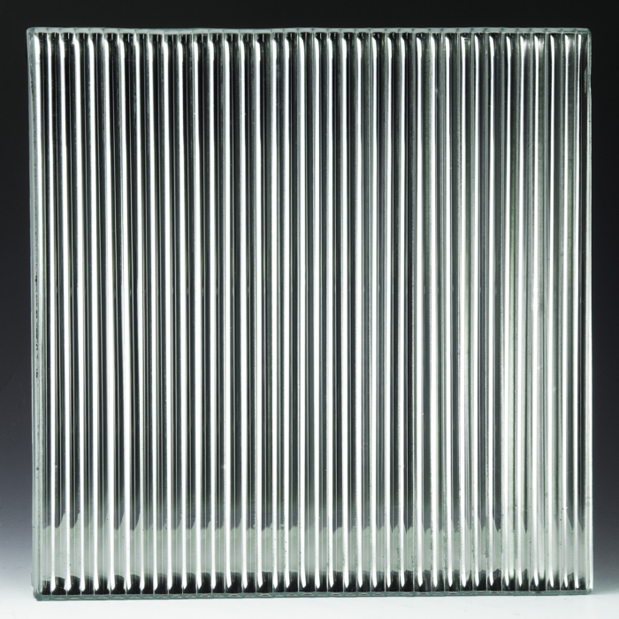 Fluted Low Iron Silvered Glass 2