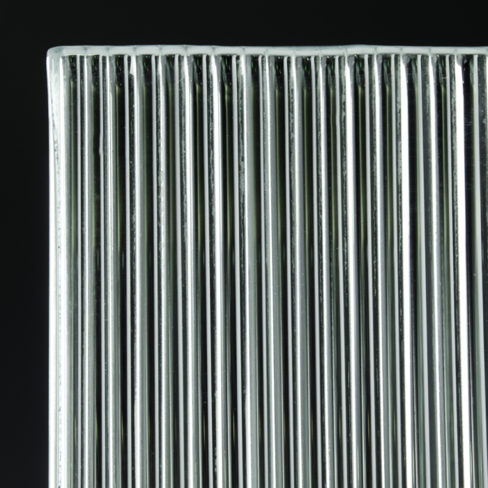 Fluted Low Iron Silvered Glass 3