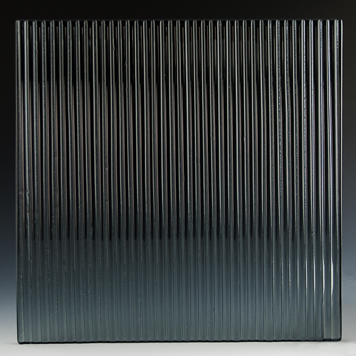 Fluted Silvered Black Glass front
