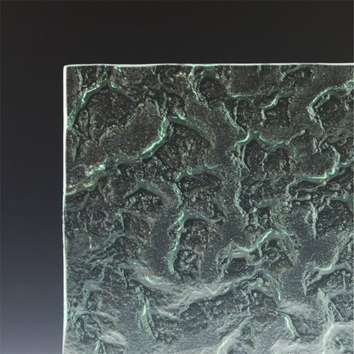 Granite Textured Glass Corner