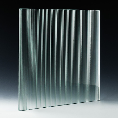 Micro Fluted Cast Glass angle
